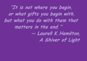 quote gifts MG shiver of light