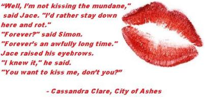 MI - Cassandra Clare, City of Ashes kisses