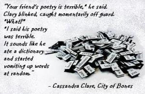 MI - Cassandra Clare, City of Bones vomit